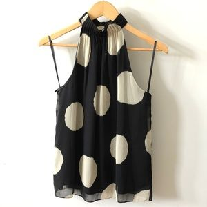 The Limited Halter Business Polka Dot Blouse Top